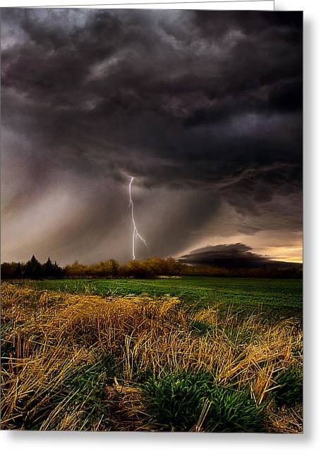Summer Storm Greeting Cards - Profound Greeting Card by Phil Koch