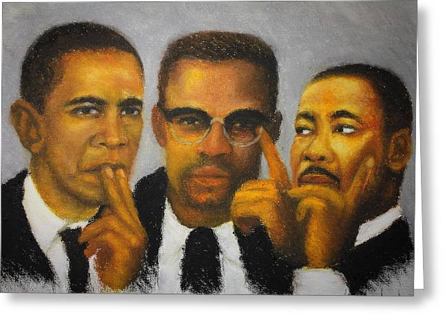 African-americans Pastels Greeting Cards - Profound Thinkers Greeting Card by Anthony  Baxton