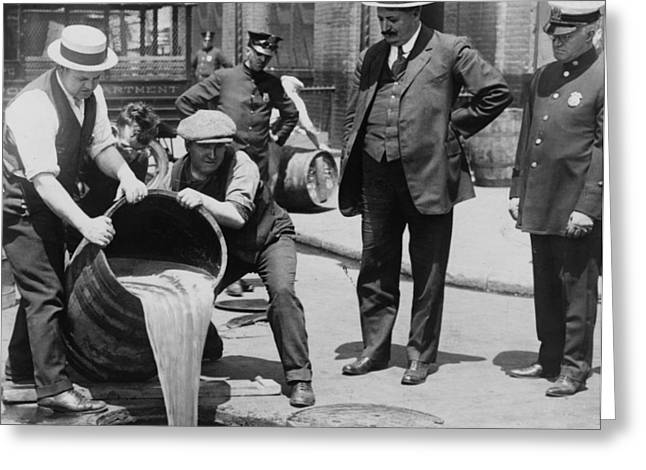 Barrels Greeting Cards - Prohibition in the USA Greeting Card by Unknown