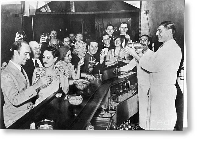 Bartender Greeting Cards - Prohibition Repeal, 1933 Greeting Card by Granger