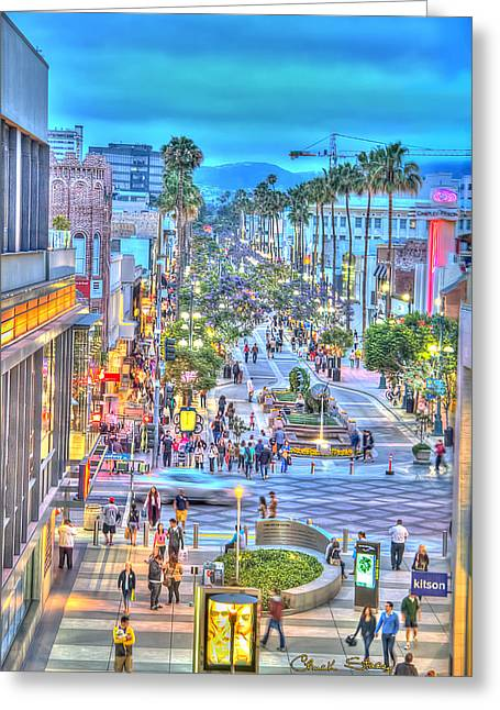 California Tourist Spots Greeting Cards - Third Street Promenade Greeting Card by Charles Staley