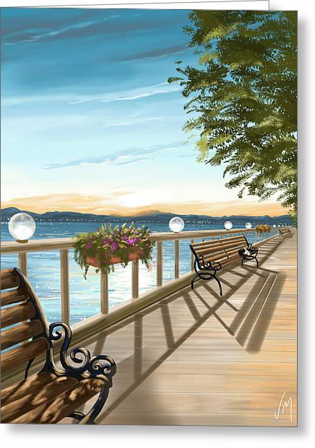 Promenade Greeting Cards - Promenade Greeting Card by Veronica Minozzi