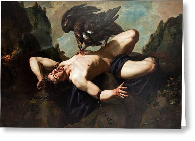 Prometheus Greeting Cards - Prometheus Greeting Card by Theodoor Rombouts