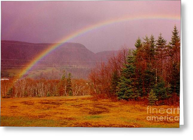 Halifax Art Work Greeting Cards - Promise and Hope Cape Breton Greeting Card by John Malone