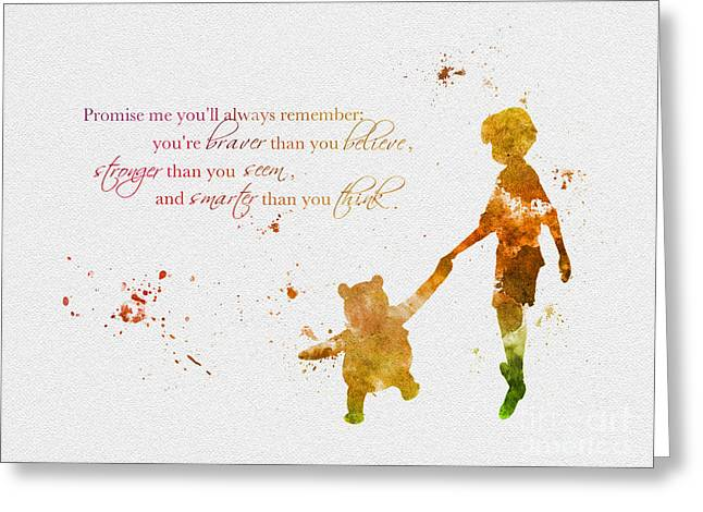 Disney Greeting Cards - Promise me youll always Remember Greeting Card by Rebecca Jenkins
