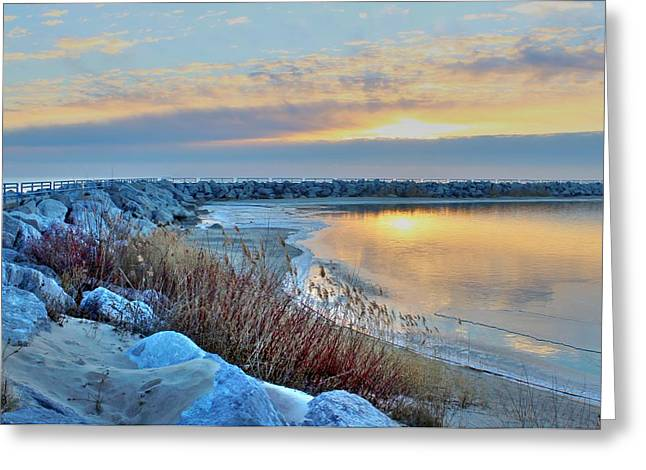 Jetty View Park Greeting Cards - Promise of a New Day Greeting Card by Flora Ehrlich