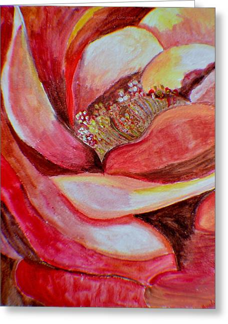 Shades Of Red Greeting Cards - Promise of Love Greeting Card by Sonali Gangane