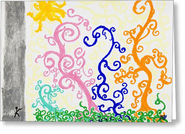 Pouring Pastels Greeting Cards - Promised Blessings Greeting Card by Melissa Bitter