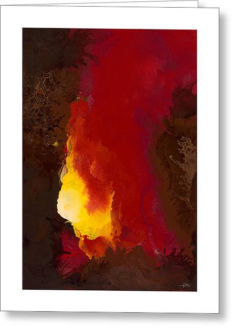Beige Abstract Greeting Cards - Promised Spirit Greeting Card by Craig Tinder