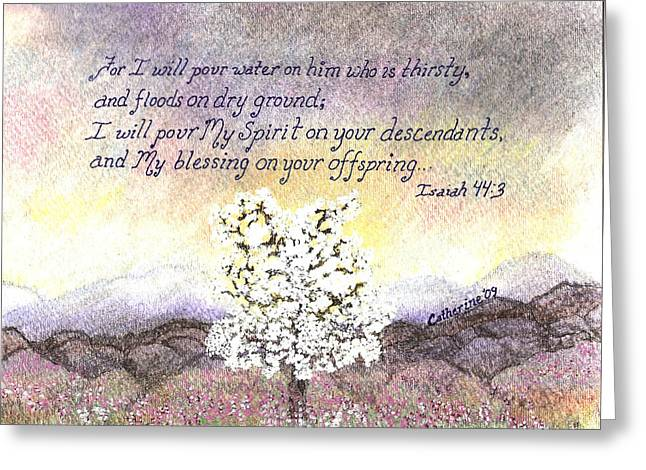 Scripture Pastels Greeting Cards - Promises  Greeting Card by Catherine Saldana