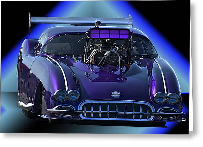 Displacement Greeting Cards - ProMod Corvette Greeting Card by Dave Koontz
