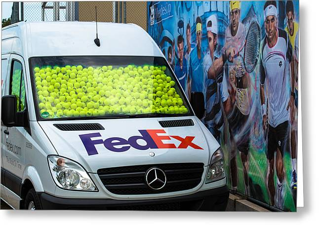Atp World Tour Greeting Cards - Promotion during the ATP trophy in Stuttgart - Germany Greeting Card by Frank Gaertner