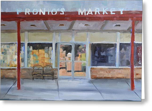 Hershey Greeting Cards - Pronios Market Greeting Card by Michael  Accorsi