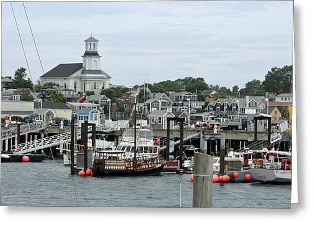 New England Village Greeting Cards - Pronvincetown Harbor Greeting Card by Chris Bradshaw