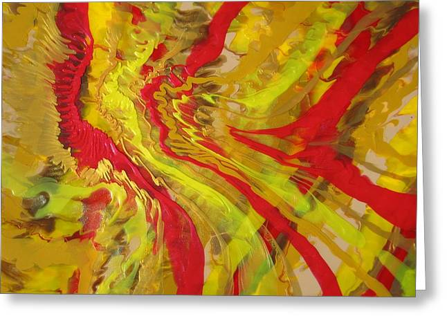 Acrylic Pour Greeting Cards - Propel Greeting Card by Richard Jensen