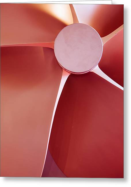 Concept Photographs Greeting Cards - Propeller  Greeting Card by Modern Art Prints