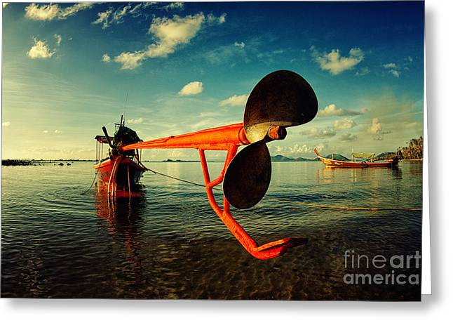 Beautiful Landing Greeting Cards - Propeller Greeting Card by Stylianos Kleanthous