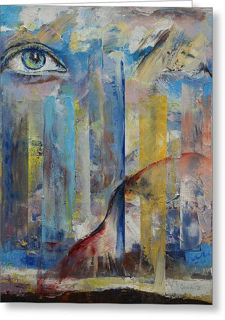 Surrealistic Paintings Greeting Cards - Prophet Greeting Card by Michael Creese