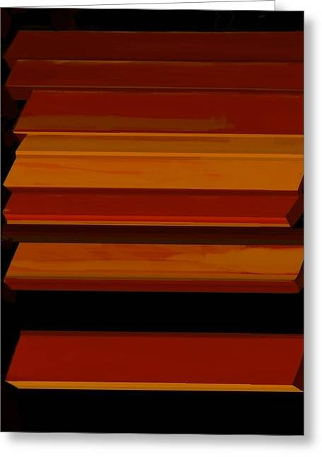 Geometric Image Greeting Cards - Proportioned without Purpose Greeting Card by Diane Strain