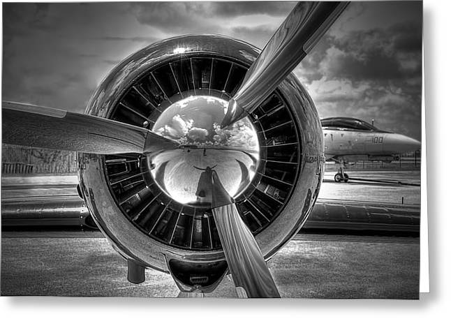 Rotate Greeting Cards - Props And Jet Greeting Card by Rudy Umans