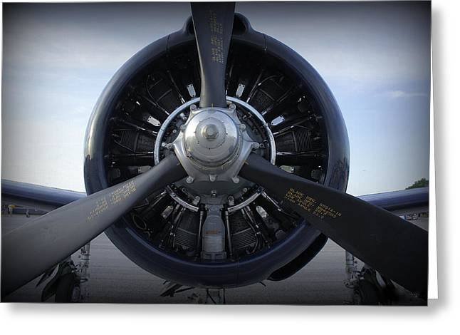 Commuter Plane Greeting Cards - Props Greeting Card by Laurie Perry