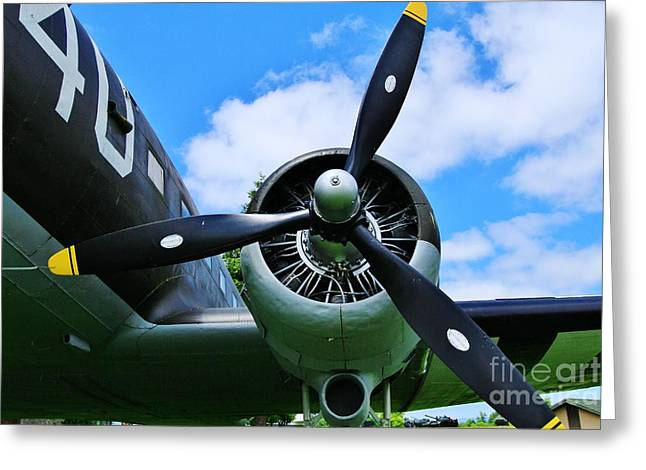 Airoplane Greeting Cards - Props Greeting Card by Terry Matysak