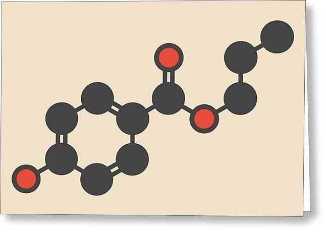 Propyl Paraben Preservative Molecule Greeting Card by Molekuul