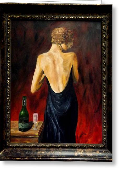 Prosecco Nights Framed Greeting Card by Gino Didio