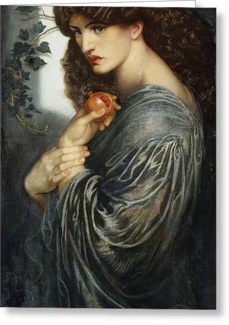 Fertility Paintings Greeting Cards - Proserpine Greeting Card by Dante Charles Gabriel Rossetti