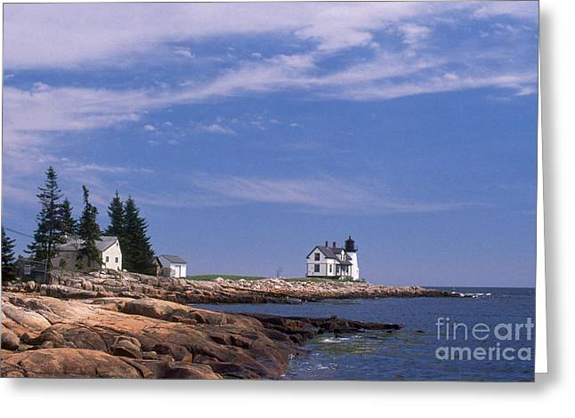 Prospects Greeting Cards - Prospect Harbor Lighthouse Greeting Card by Bruce Roberts