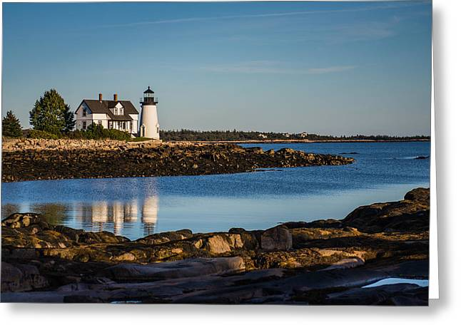Best Sellers -  - Prospects Greeting Cards - Prospect Harbor Point Light Greeting Card by Constance Sanders