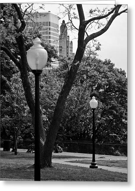 Best Sellers -  - Prospects Greeting Cards - Prospect Park Greeting Card by Michael Dorn