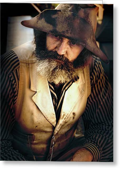 Prospector Greeting Cards - Prospector Greeting Card by Ed Hall