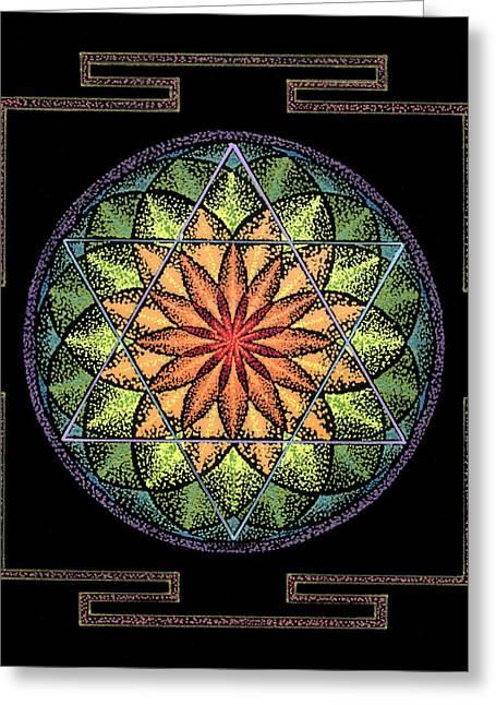 Sacred Drawings Greeting Cards - Prosperity Greeting Card by Keiko Katsuta