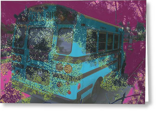 Magic Bus Greeting Cards - Prosperous Pining Greeting Card by Laureen Murtha