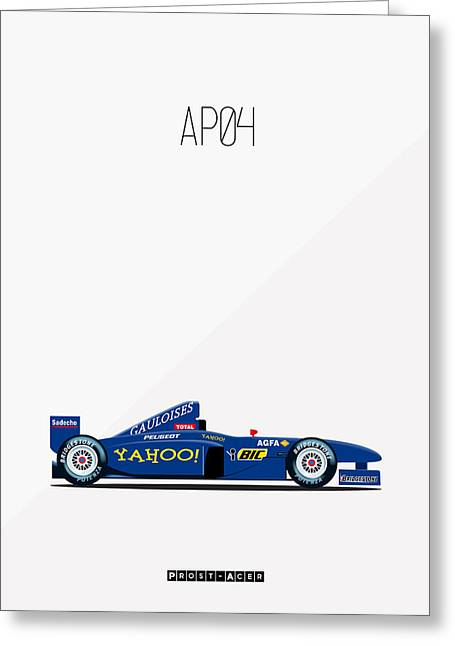 Gaston Greeting Cards - Prost Acer AP04 F1 Greeting Card by Florian Rodarte