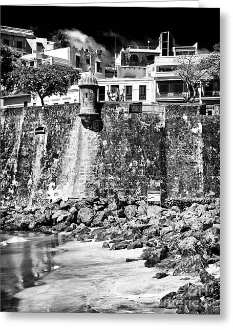 Old San Juan Greeting Cards - Proteccion Greeting Card by John Rizzuto