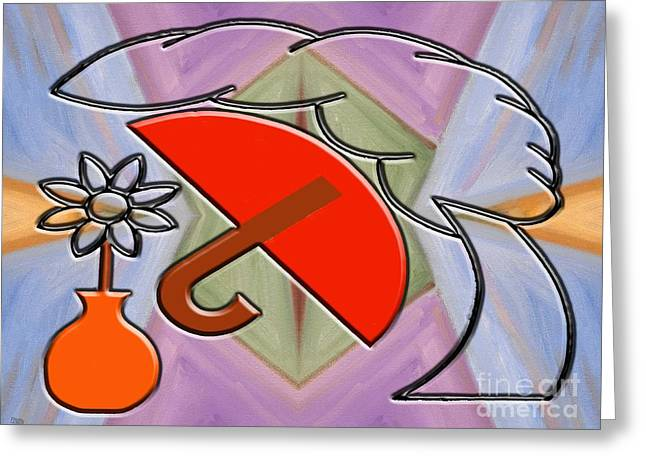 Abstract Vase Flower Print Greeting Cards - Protected By The Light Of Love Greeting Card by Patrick J Murphy
