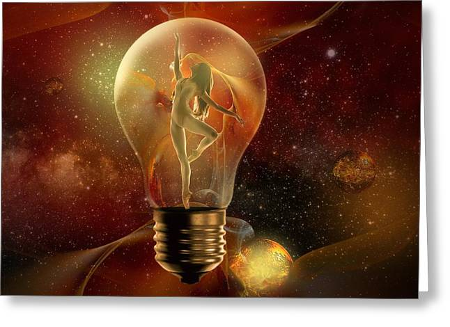 Light-years Greeting Cards - Protected Space Greeting Card by Franziskus Pfleghart