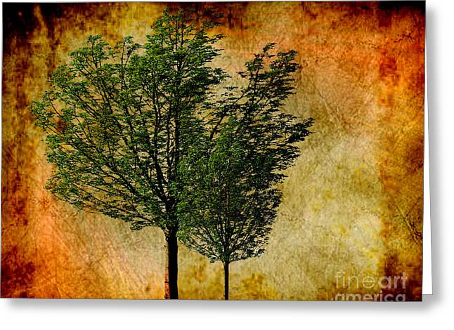 Protected Together Greeting Card by Cheryl Young