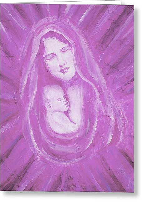 Jesus With A Child Greeting Cards - Protecting Love Of the Mother  Greeting Card by The Art With A Heart By Charlotte Phillips