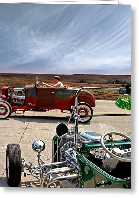 Ford Model T Car Greeting Cards - Protection Absense Greeting Card by Christopher McKenzie
