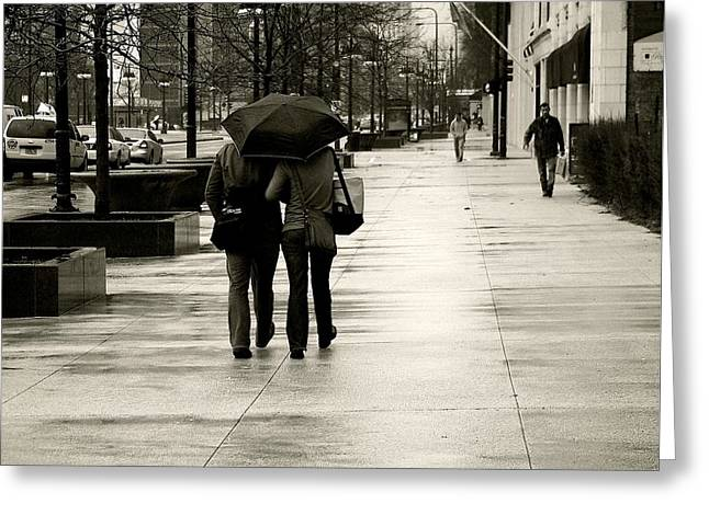 Streetphotography Greeting Cards - Protection Greeting Card by Frank J Casella