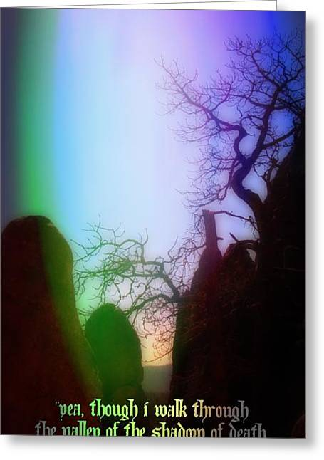 The Shadow Of Death Greeting Cards - Protection in the Valley Greeting Card by John Malone