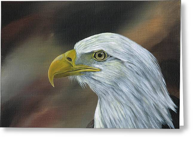 Head Greeting Cards - Proud Eagle Greeting Card by Heather Bradley