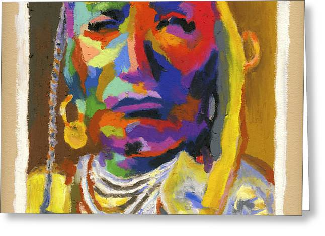 Proud Native American Greeting Card by Stephen Anderson