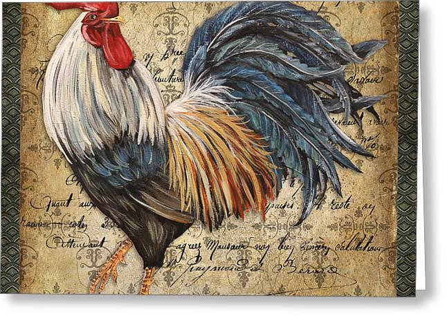 Coq Greeting Cards - Proud Rooster-D Greeting Card by Jean Plout