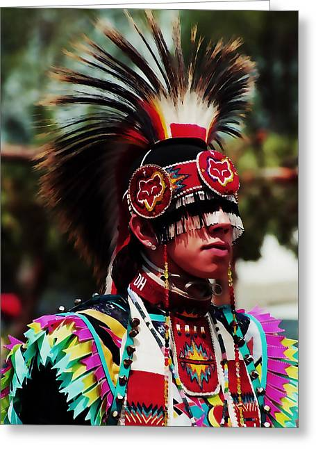 American Tradition Greeting Cards - Proud Young Man Greeting Card by Terril Heilman
