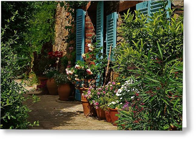 Provence Village Greeting Cards - Provencal alley Greeting Card by Dany  Lison