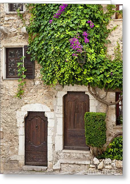 Provence Village Greeting Cards - Provencal Doors Greeting Card by Brian Jannsen